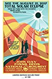 RARE POSTER eastern oregon SOLAR ECLIPSE event 2017 john day fossil beds REPRINT #'d/100!! 12x18
