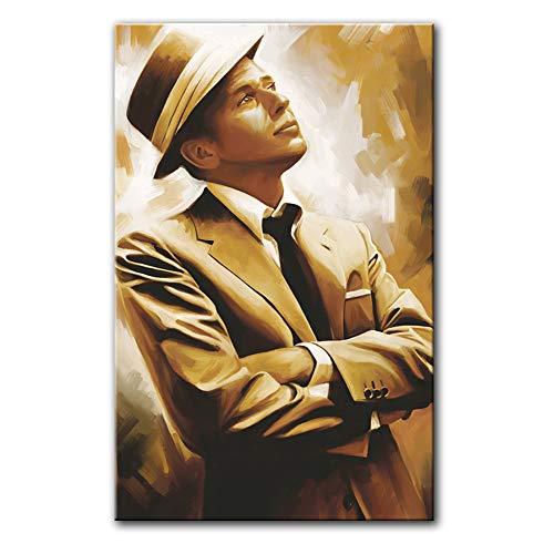 Frank Sinatra Original Artwork Artist Signed Canvas Art Print (Large 30