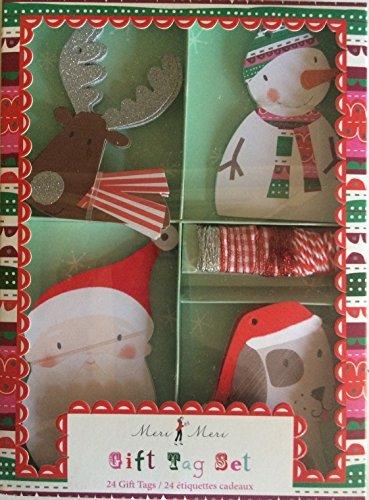Puppy Christmas Gift Tags - Meri Meri Season's Greeting Gift Tag
