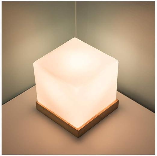 Zhang Yan ZYY * Lámpara de Mesa LED, luz de Noche de Cristal ...
