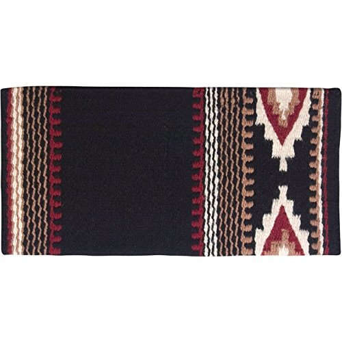 Mayatex Cowtown Saddle Blanket, Black/Cream/Red Earth/Fawn, 36 x 34-Inch