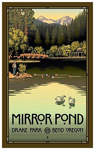 Mirror Pond In Drake Park, Bend Oregon Travel Art Print Poster by Paul Leighton (12
