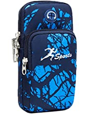 """Sports Arm Bag, Universal Unisex Armbands Bounce Gym Armbands Phone Holder Pouch Case with Earphone Hole for Apple iPhone, Samsung Galaxy and LG (Under 6.5"""" Phone) (#1)"""