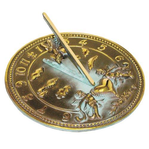 (Rome 2316 Cherub Sundial, Solid Brass with Verdigris Highlights, 10-Inch Diameter)