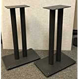Steel Fill-Able 24 Speaker Stands for Medium to Large Bookshelf Speakers By Vega A/V