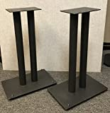 Steel Fill-Able 24'' Speaker Stands for Medium to Large Bookshelf Speakers By Vega A/V