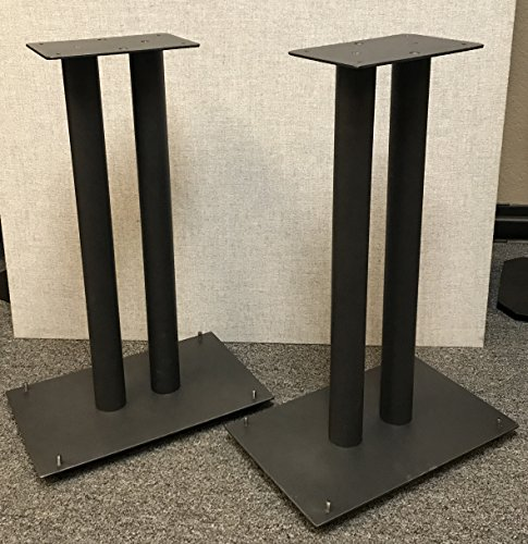 Steel Fill-Able 24'' Speaker Stands for Medium to Large Bookshelf Speakers By Vega A/V by Vega A/V