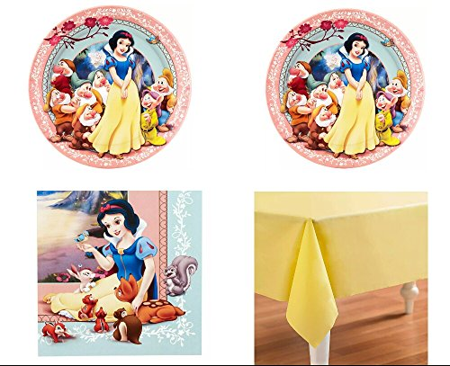 Snow White Party Pack for 16 (White Snow Birthday)