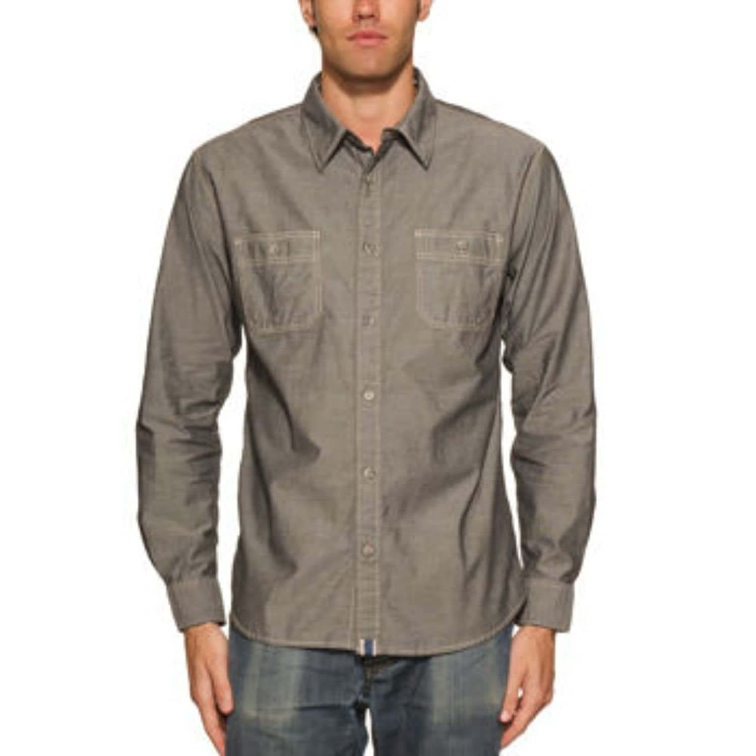 1930s Style Mens Shirts Weatherproof Vintage Yarn Dyed Mens Long Sleeve Woven Shirt $29.99 AT vintagedancer.com