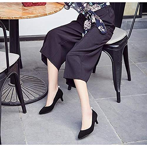 Black Basic Spring Suede Heel Women's Pump Stiletto ZHZNVX Shoes Heels Black qvUZAR