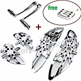 Motorcycle Footboard harley chrome passenger floorboards + harley Shift Lever + pedal For Harley Touring road king road glide