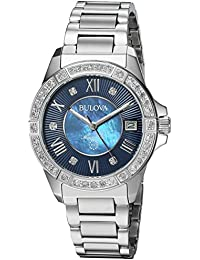 Women's Quartz Stainless Steel Casual Watch, Color Silver-Toned (Model: 96R215)