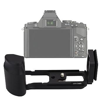 Andoer/® LB-EM5 Quick Release QR L Plate Vertival Bracket Grip for Olympus OM-D E-M5 /& RRS Compatible