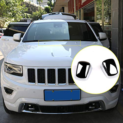 HIGH FLYING Exterior Chrome Front Hood Engine Air Vent Outlet Wing Trim Car Engine Bonnet For Grand Cherokee WK2 2014-2019 Styling Parts Accessories