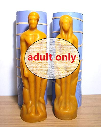 3D silicone pillar candle soap mold male female figure homemade wicca spell candle
