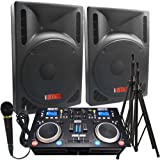"2000 Watts! - Complete DJ System - Everything you need to DJ - 12"" Powered Speakers - Connect your Laptop, iPod via Bluetooth or play CD's!"
