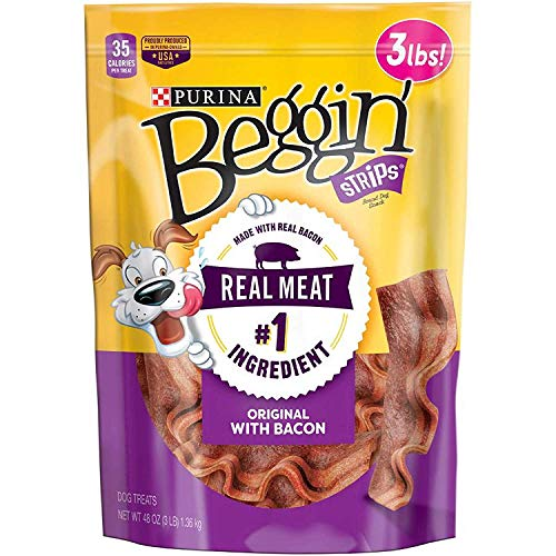 (Purina Beggin' Strips Bacon Flavor Dog Snacks, 48 oz.)