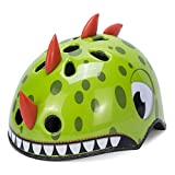 Babimax Green Dinosaur kids Children Toddler Bike Road Helmets for Cycling Biking Roller Skating (Green-dinosaur, S)