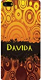 Personalized iPhone 5 back cover case / skin with Davida (first name/surname/nickname)