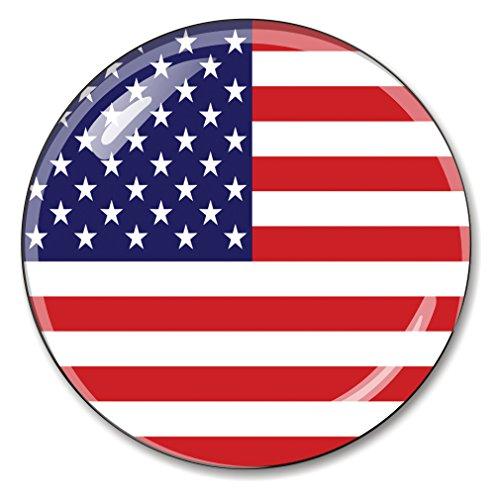 American Flag Crystal Paperweight