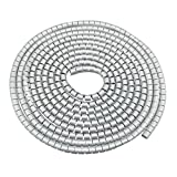 uxcell 10mm Flexible Spiral Tube Cable Wire Wrap Computer Manage Cord Gray 5M