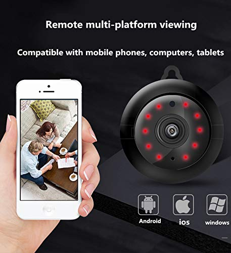 WJS Mini Spy Camera WiFi Wireless Hidden Video Camera Portable Home Security Cameras Covert Nanny Cam Small Indoor Outdoor Video Recorder Motion Activated Night Vision(2020 New)