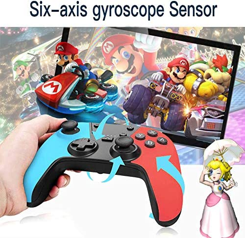 Wireless Switch Pro Controller for Switch/Switch Console,Gamepad Joystick Support Rechargeable Battery, Gyro Axis,Dual Vibration,Turbo,Capture Function,Motion Control