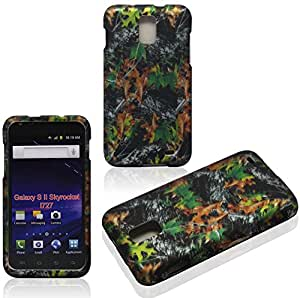 2D Camo Leaves Samsung Skyrocket i727/ Galaxy S II AT&T Case Cover Hard Case Snap-on Case Cover Rubberized Frosted Matte Surface Hard Shells