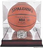 NBA Logo Basketball Display Case NBA Team: Oklahoma City Thunder, Base Type: Mahogany