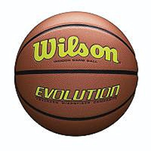 Evolution Size Game Basketball-Yellow, Brown, Official ()