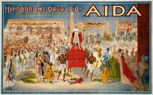 TH16 Vintage 1908 Aida Opera Theatre Show Poster Re-Print - A4 (297 x 210mm) 11.7