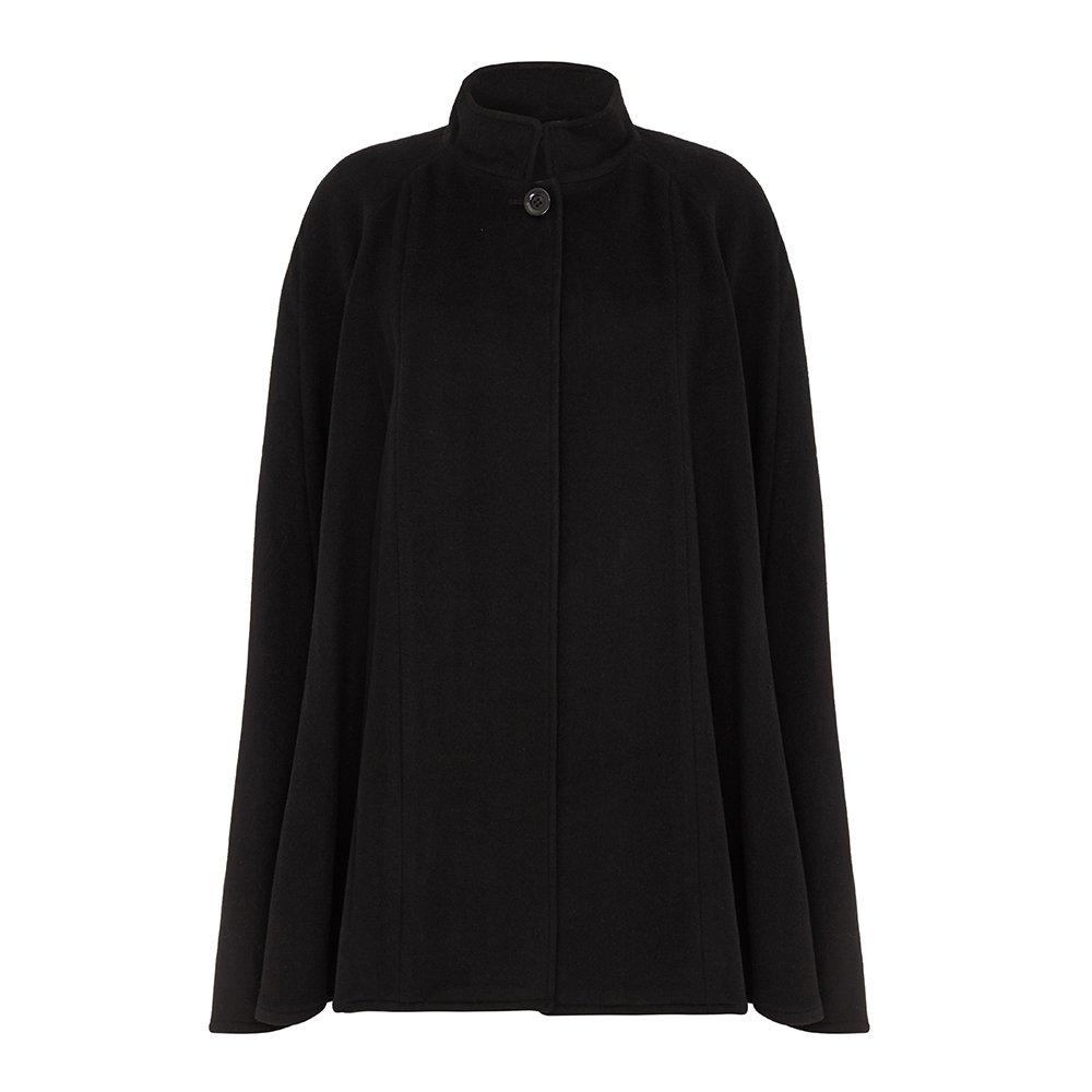 Wool & Cashmere Cape, Black