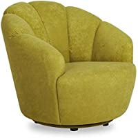 Gold Sparrow Newton Avocado Swivel Barrel Chair