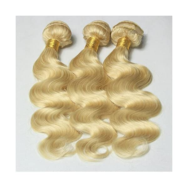 Ruma Hair 8a Bleach Blonde Mink Brazilian Hair Bundles Body Wave