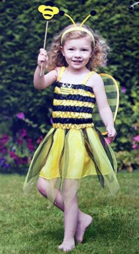 Rimi Hanger Toddler Girls Bumble Queen Bee Costume Kids Fancy Dress Parties Book Week Outfit Under 4 (Queen Bee Costumes For Kids)