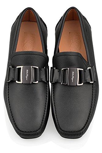 Salvatore Ferragamo Sardegna Negro Zapatos de Piel de curtido Triple E EEE: Amazon.es: Zapatos y complementos