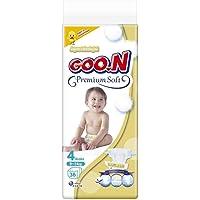 Goon Premium Soft Bebek Bezi, 4 Beden, Jumbo Paket, 34 Adet, Beyaz