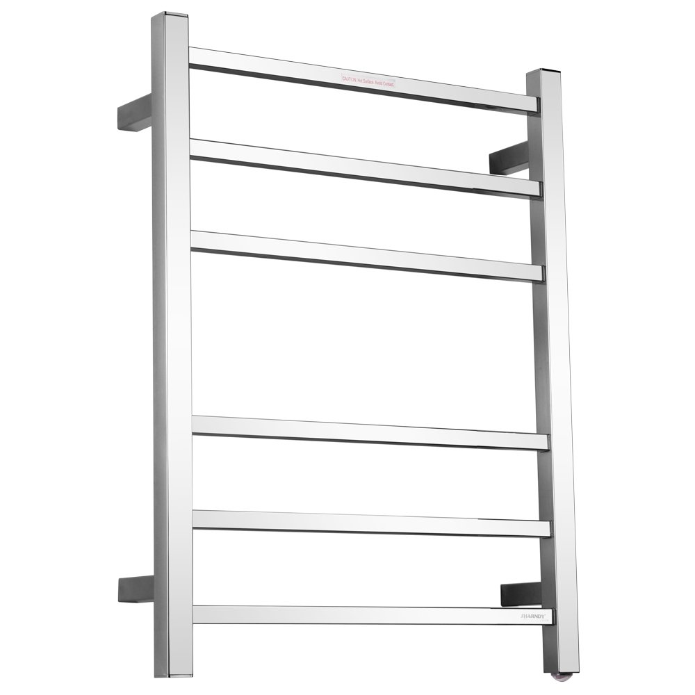 Sharndy Towel Warmers Square Bars ETW13C Chrome Towel Racks for Bathroom
