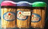 Chao Cheng Brand - Bamboo Toothpicks 200 sticks/er bottle X 3 bottles