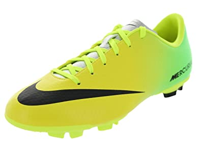 Nike Kids Jr Mercurial Victory IV FG Vibrant Yellow Black Neo Lime Soccer  Cleat 2 Kids US  Buy Online at Low Prices in India - Amazon.in 0abf94275