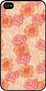 Flowers and Ros the For Iphone 4/4S Covers Universal- Hard Black Plastic Snap On Case