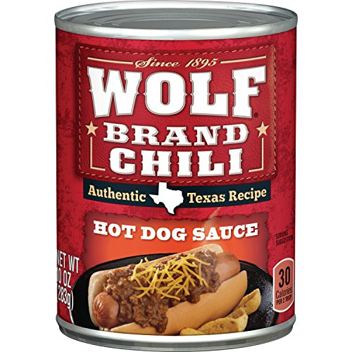 WOLF BRAND Chili Hot Dog Sauce, 10 oz.