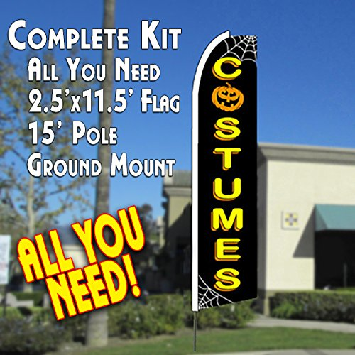 COSTUMES (Halloween) Flutter Feather Banner Flag Kit (Flag, Pole, & Ground Mt) for $<!--$49.99-->