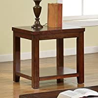 247SHOPATHOME Idf-4107E End-Tables, Cherry