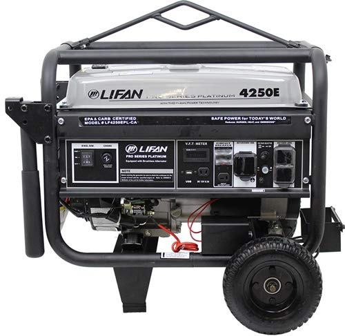 Lifan LF4250EPL-CA CARB Compliant Platinum Series Generator 7MHP, Black