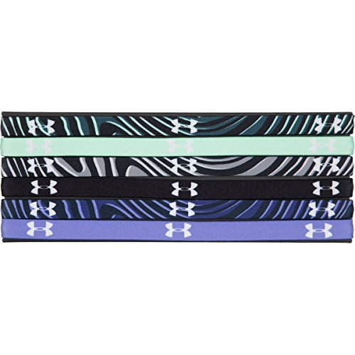 Under Armour Mini Graphic Headband - 6-Pack - Women's Crystal/Black/White, One Size