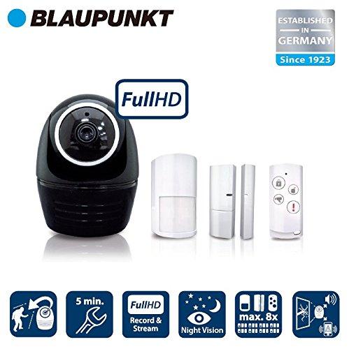 Blaupunkt Security HOS-1800 - Kit de alarma con cámara IP PTZ + sirena integrada, voz bidireccional y detección de intrusos inteligente product image