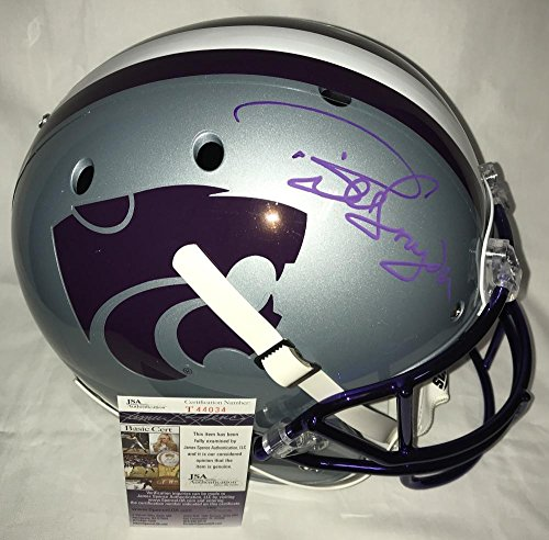 Bill Snyder Signed Autographed Kansas State Wildcats Full Size Football Helmet - Purple - Certified - JSA Certified (Helmet Wildcats Deluxe)