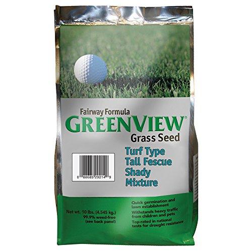 GreenView Fairway Formula Grass Seed Turf Type Tall Fescue Shady Mixture, 10 lb Bag