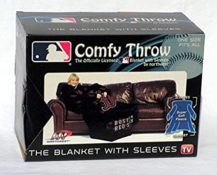 Amazon MLB Boston Red Sox Comfy Throw Blanket With Sleeves Inspiration Red Sox Throw Blanket